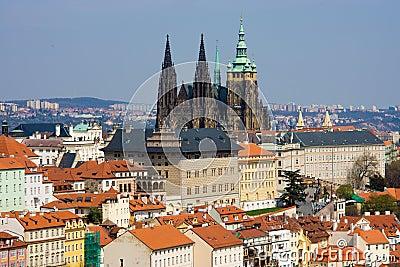 Prague panorama with St. Vitus Cathedral