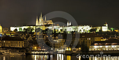 Prague (Praha) Panorama At Night Royalty Free Stock Photography - Image: 15437897