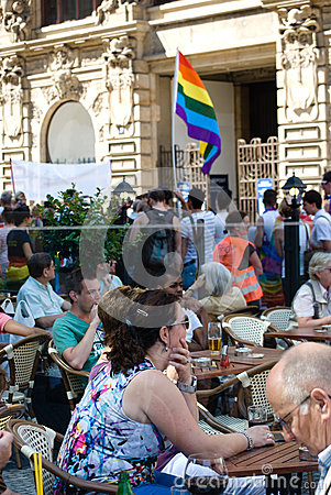 Prague Pride Parade Editorial Photo
