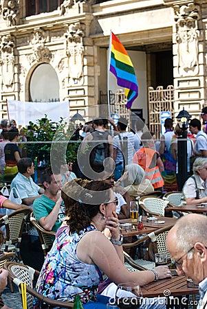 Prague Pride Parade Editorial Photo