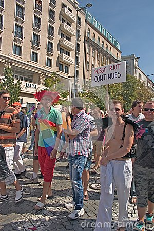 Prague Pride Pararde 2012 Editorial Stock Image