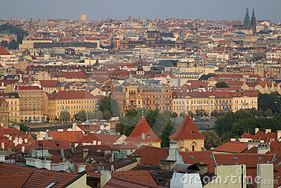 Prague roof view