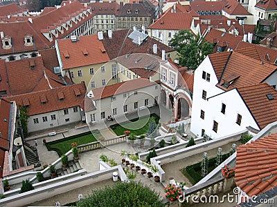 Prague roofs II Stock Photo