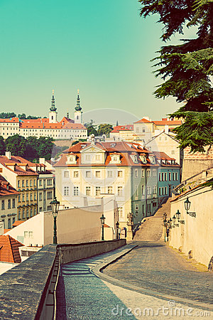 Free Prague S Mala Strana (Lesser Town Of Prague). Historic District Of The City Royalty Free Stock Image - 65557616
