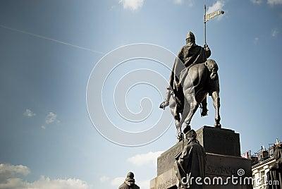 Prague.S.Venceslao statue