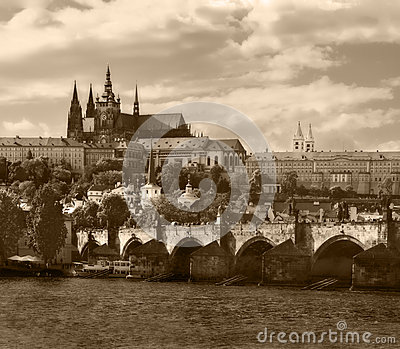Prague. Sepia