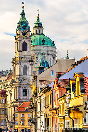 Free Prague, St. Nicholas Cathedral Stock Photo - 63026770