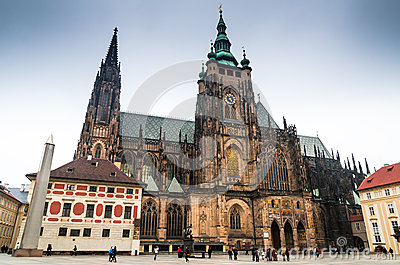Prague, St Vitus Cathedral. Czech Republic Editorial Stock Photo