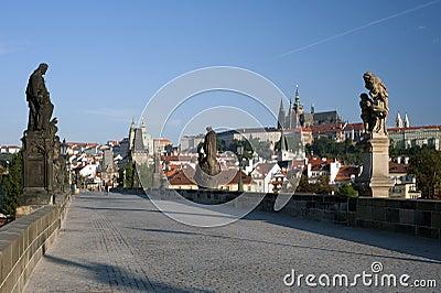 Prague- Statue on Charles Bridge