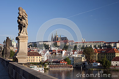 Prague- Statue on Charles Bridge