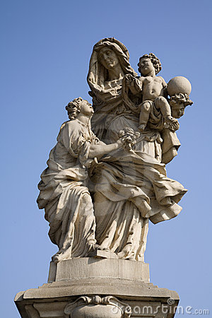 Prague - statue hl. Anne from Charles bridge