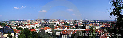 Prague stitched panorama
