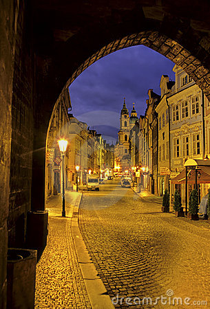 Prague street- Czech Republic