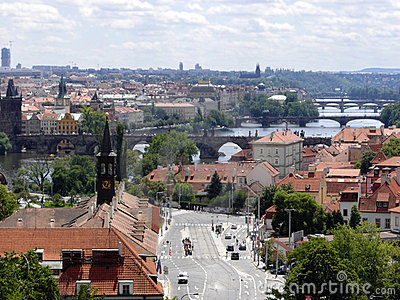 Prague summer panorama