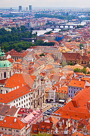Prague. Top view