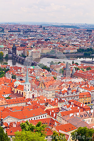 Prague. Top view