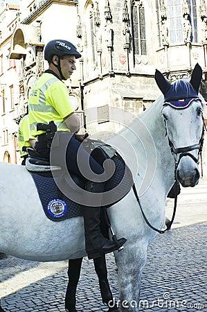 Prague tourist Police Editorial Photography