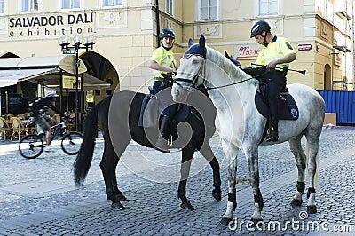 Prague tourist police force Editorial Image