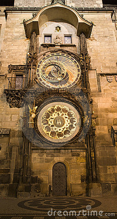 Prague - tower-clock
