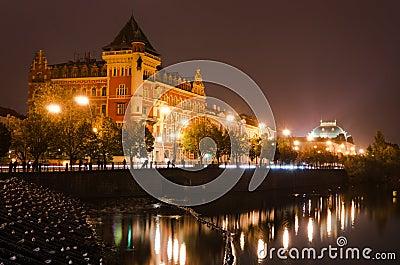 Prague view in the night, Czech Republic