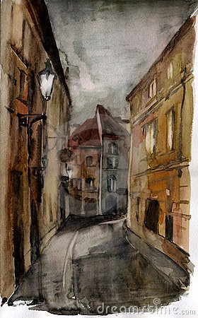 Prague. Watercolor.