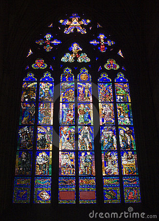 Prague - windowpane for gothic church