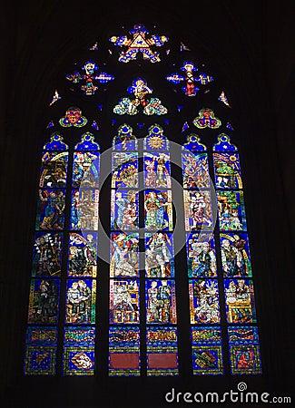 Prague - windowpane for gothic church