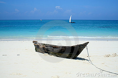 Praia abandonada