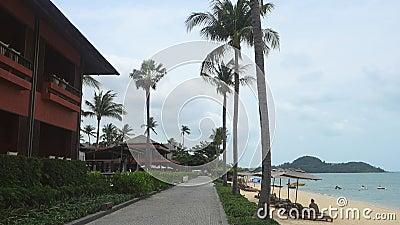 Praia da BO Phut, Ko Samui, Tail?ndia, ?sia video estoque