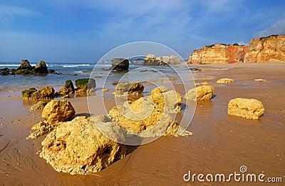 Praia da Rocha, Atlantic ocean, Portugal