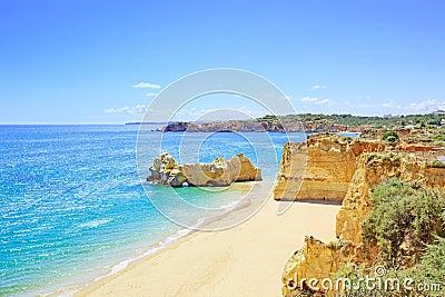 Praia da Rocha beach Portimao. Algarve. Portugal
