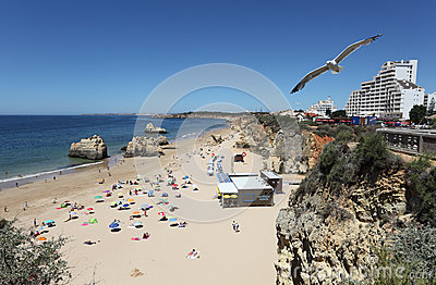Praia da Rocha in Portimao, Portugal Editorial Stock Image