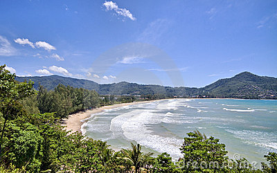 Praia de Kamala. Phuket, Tailândia.