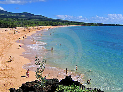 Praia grande, Makena, Maui, Havaí