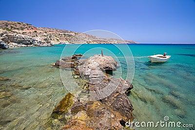 Praia idílico de Vai em Crete