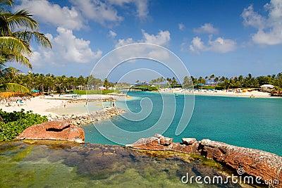 Praia no console do paraíso
