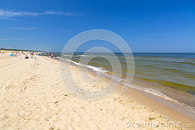 Praia no mar Báltico