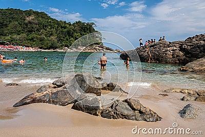 Praia Rio de Janeiro de Trindade Foto Editorial