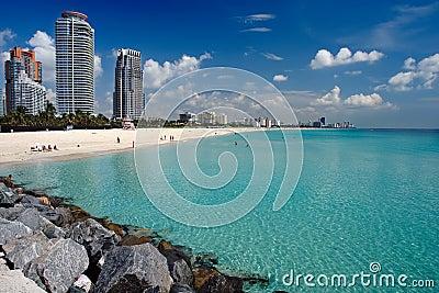 Praia sul Miami