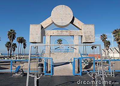 Praia Veneza Califórnia do músculo