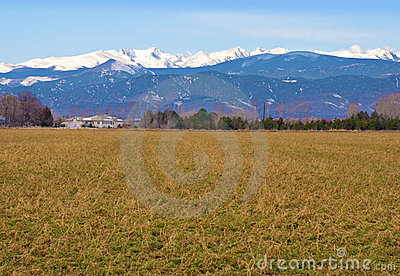 Prairie Farm and Snow Mountains