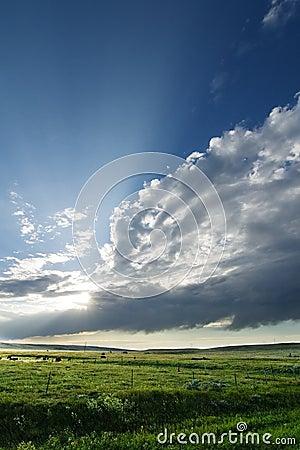 Free Prairie Sky Landscape Royalty Free Stock Photos - 365268