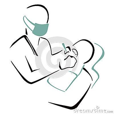 Praktizierender Zahnarzt