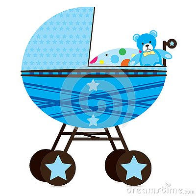 Free Pram For Baby Boy Stock Images - 4032474