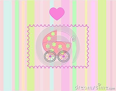 Pram for newborn girl.