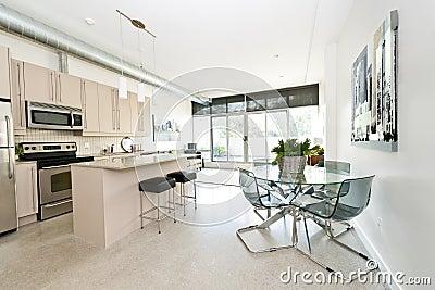 cucina, salone e sala da pranzo immagine stock - immagine: 34608521 - Salone Cucina