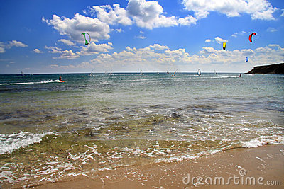 Prasonisi . A windsurfing resort. Landscape