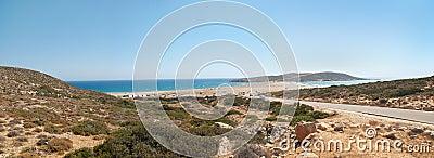 Prassonissi  Beach panorama