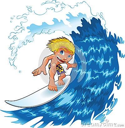 Praticare il surfing del neonato
