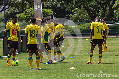 Pratique en matière de Bafana Bafana Image éditorial